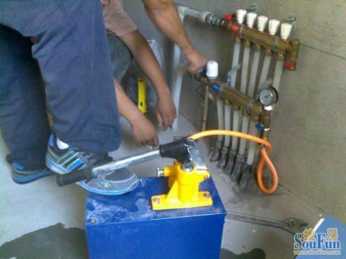 地热没有供水前清洗要对系统